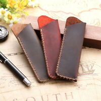 Leather Handcrafted Fountain Pen Pencil Bag Holder Pens Storage Sleeve Pouch FBD