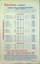 Fidel Socin: Bolzano: listino prezzi fisarmoniche: listino L: dicembre 1950.