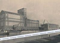Karlsruhe Rheinhafen - Getreidesilos - um 1950 oder früher (?)
