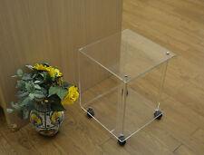 Tavolo Tavolino Quadro Plexiglass Trasparente 40x40x50 Design Moderno