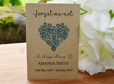Funeral Favours Seed Packets Forget Me Not Seeds Remembrance Memorial with seeds