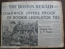 January 19, 1962 Boston Herald Newspaper JFK, John Glenn, Terry Sawchuk, etc.