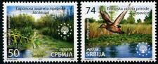 Nature Protection set of 2 mnh stamps Serbia 2017  waterwheel plant duck