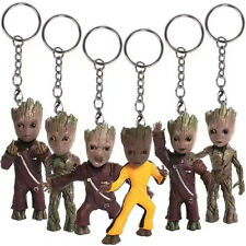 Guardians of The Galaxy Baby Groot Body Knocker on Stereo Toy Gift Keychains 6 Pcs / Set