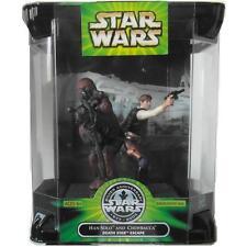 Star Wars Silver Anniversary Han Solo and Chewbacca Death Star Escape Figure NIB