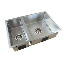 Everhard Squareline Plus One And Half Bowl Sink - 670x440x200mm - New RRP $448
