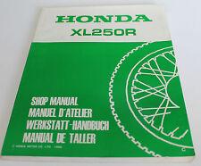 Werkstatthandbuch Reparatur Anleitung Shop Manual Manuel Atelier Honda XL 250 R
