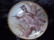Assiette collection Gamebirds Oiseau FRANKLIN HAVILAND LIMOGES Gelinotte de bois