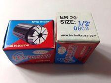 "Techniks ER20 Precision Collet 1/2"" T.I.R. 0002"""