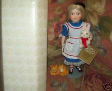 Franklin Mint Alice n Wonderland Porcelain Doll Mib!