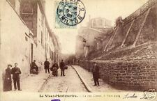 CPA Paris Montmartre Rue Cortot 6 Mars 1904 (f1878)