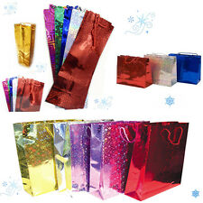 S,M,L Shiny Holographic Gift Bags Assorted Size Colour Birtday Present Party Bag