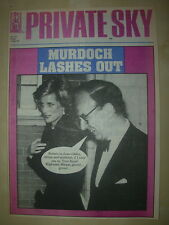PRIVATE EYE MAGAZINE No 723 SEPTEMBER 1 1989 MURDOCH LASHES OUT