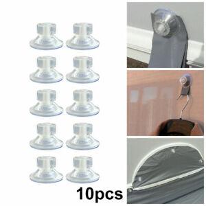 10Pcs Clear High-Grip Awning Suction Cup Fixing Pads Caravan Motorhome Organiser
