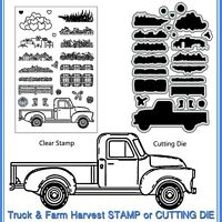 Farm Truck Metal Cutting Die Stencil DIY Scrapbooking Embossing Paper Card Decor