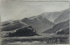 Wonderful Charcoal Drawing by CA Artist Walter Barron Currier (1879-1934) 1930