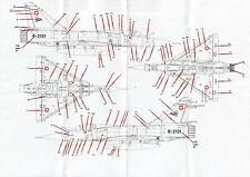Peddinghaus 1/72 Swiss Air Force Mirage IIIRS Decals NEW