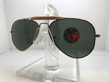 New Ray Ban Sunglasses RB 3030 L0216 gold outdoorsman 58mm paddle polarized lens