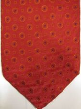 GORGEOUS Renato Balestra Orange-Red With Blue and Gold Silk Tie Italy
