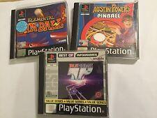 3 PS1 Playstation 1 PSOne Pinball Games Austin Powers + Elemental + TP True