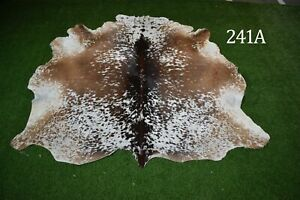 """New Cowhide Rugs Hair On COW HIDE Rugs Area Cow Skin Leather Rugs (66"""" x 66"""")"""