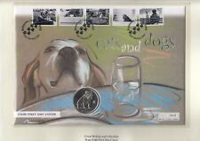 More details for 2000 gibraltar one crown cats and dogs battersea  coin first day cover fdc pnc