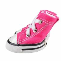 4PCS Puppy Pet Dog Denim Shoes Sport Casual Anti-slip Boots Skate Sneaker Shoes