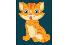 PAINT BY NUMBERS KIT KITTEN