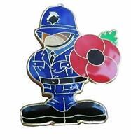 Poliziotto Commemorazione Metallo Fermacravatta Bavero Distintivo Constable Blu