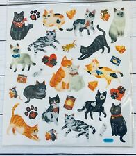 Kitty Cat Love Glitter Stickers Pets Animals Stickers Planner Papercraft Party