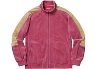Supreme Pink Velour Track Jacket Zip Up Tracksuit Top, Size Small