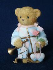 Cherished Teddies - Boy w/Rose/Hearts/Horn Figurine - 114042 - 2003