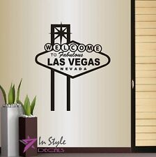 Vinyl Decal Welcome to Las Vegas Nevada Sign Billboard Casino Retro Sticker 61