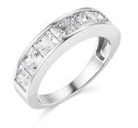 3.5 Ct Princess Cut Real 14k White Gold Engagement Wedding Anniversary Band Ring