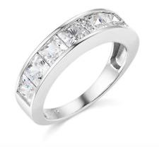 2.50 Ct Princesa Real 14k Ouro Branco Noivado Casamento Aniversário Anel