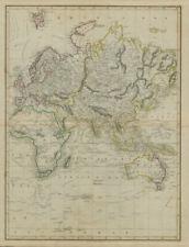 Eastern Hemisphere. New Holland. World on Mercator's Projection. LIZARS 1842 map