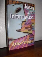 Ideas & Information: Managing in a High-Tech World by Penzias (1989,HC,DJ,SIGNED