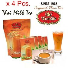 Drink Hot Tea Iced Cream Instant Powder 3in 1 Original Thai Tea Number one 4x100