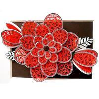 2pcs Flowers 3D Metal Cutting Dies Stencil Scrapbooking Album Paper Craft DIY