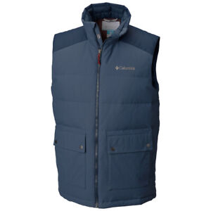 "New Mens Columbia ""Winter Challenger"" Water-Resistant 550-Fill Power Down Vest"