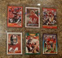 (6) Tom Rathman 1988 Topps 1989 Score Pro Set 1990 Rookie Card Lot RC 49ers