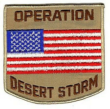 Operation Desert Storm Patch US Flag for Biker Motorcycle vest jacket size 4""
