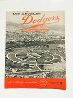 Rare Vintage 1958 Los Angeles Dodgers Baseball Official Program Score Card #4
