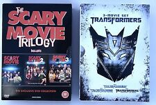 DVD's Bundle Job Lot Boxsets - Scary Movie Trilogy and Transformers Trilogy