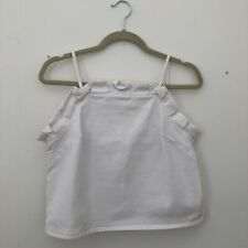 ASOS Denim White Top, Size 10