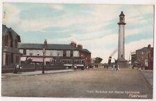 Tram Terminus & Pharos Lighthouse Fleetwood, Lancashire Postcard, B650