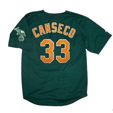 Jose Canseco Oakland Athletics Alternate Green Jersey w/ Team Patch Medium