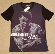 """OFFICIAL MUHAMMED ALI T-SHIRT BOXING SIZE M (20"""" P2P) RRP £25"""