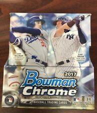 2017 BOWMAN CHROME хобби коробка бейсбол в заводской упаковке 2 автомобили 12 пачек BELLINGER?