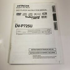 Hitachi DV-P725U Manual Operating Instructions for DVD Player Book Replacement